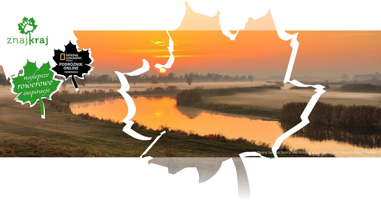 Piękny zachód Słońca nad Notecią w Lubuskiem