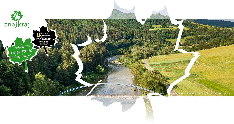 Pieszo-rowerowy most nad Popradem w Andrzejówce-Ługach