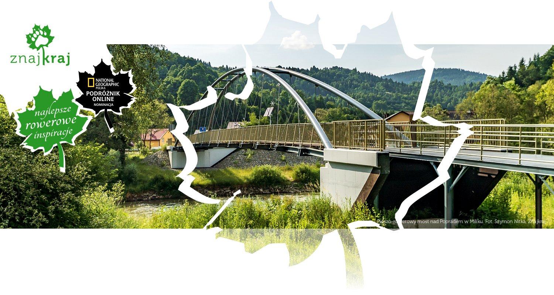 Pieszo-rowerowy most nad Popradem w Miliku