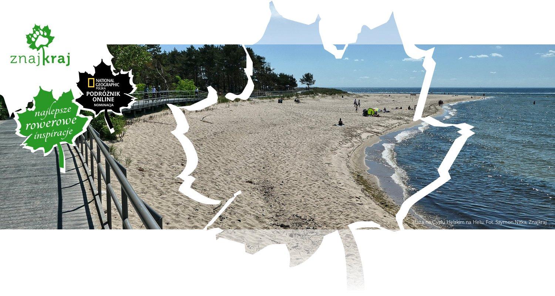 Plaża na Cyplu Helskim na Helu