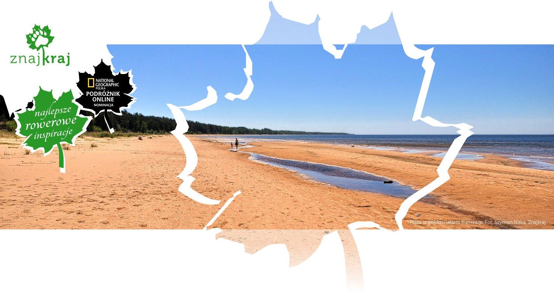 Plaża w pobliżu latarni Kurmrags