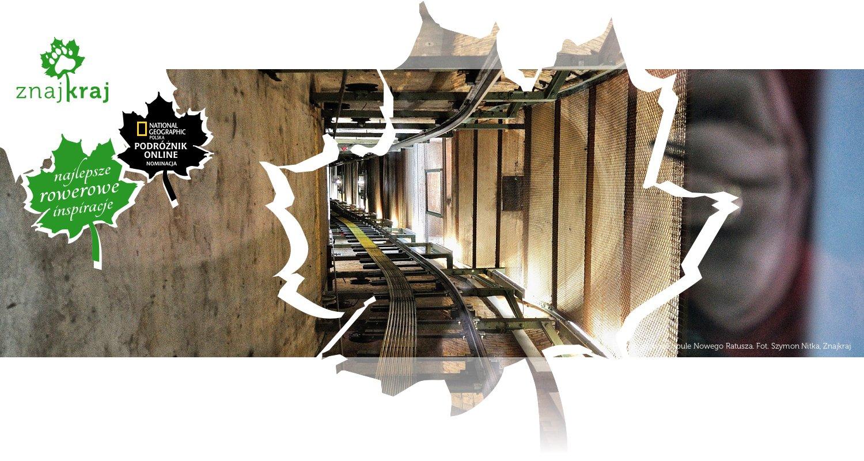 Pochyły szyb w kopule Nowego Ratusza