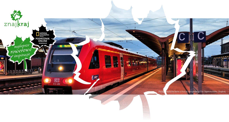 Pociąg Deutsche Bahn z Hof do Norymbergi