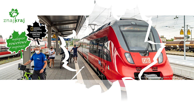 Pociąg Deutsche Bahn z Norymbergi do Ansbach