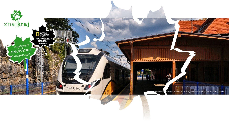 Pociąg Kolei Dolnośląskich w Szklarskiej Porębie Górnej