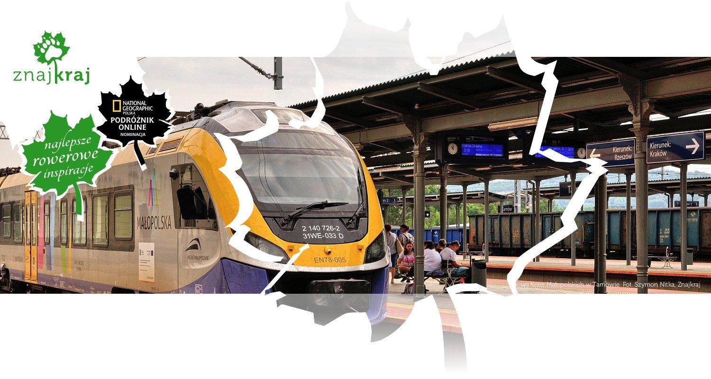 Pociąg Kolei Małopolskich w Tarnowie