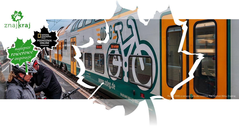 Pociąg ODEG z oznaczeniem dla rowerów