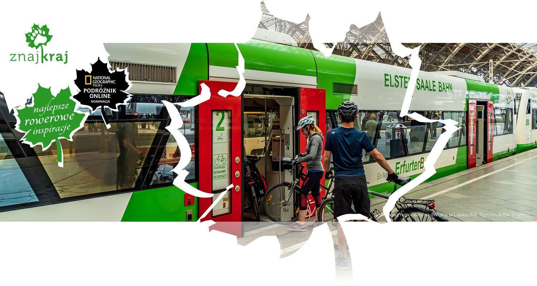 Pociąg regionalny na dworcu w Lipsku