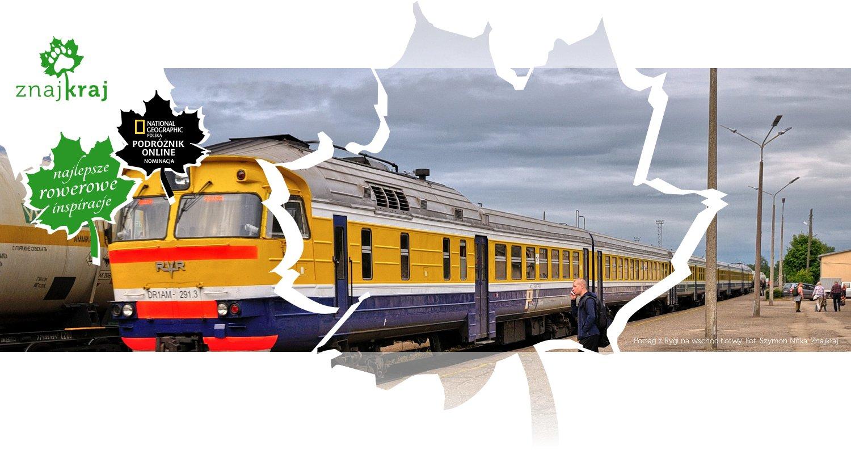 Pociąg z Rygi na wschód Łotwy