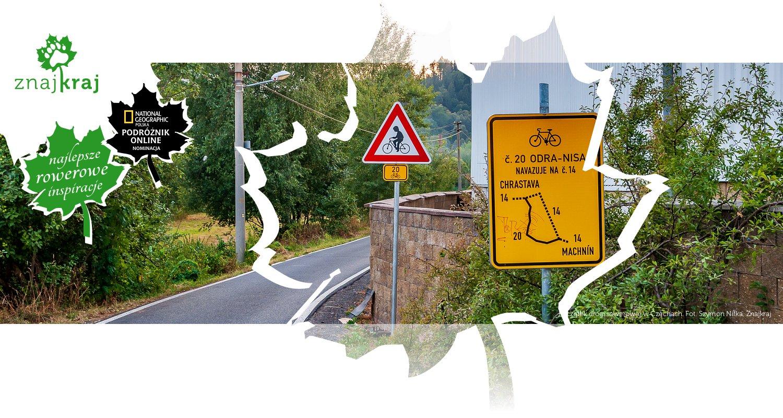 Początek drogi rowerowej w Czechach