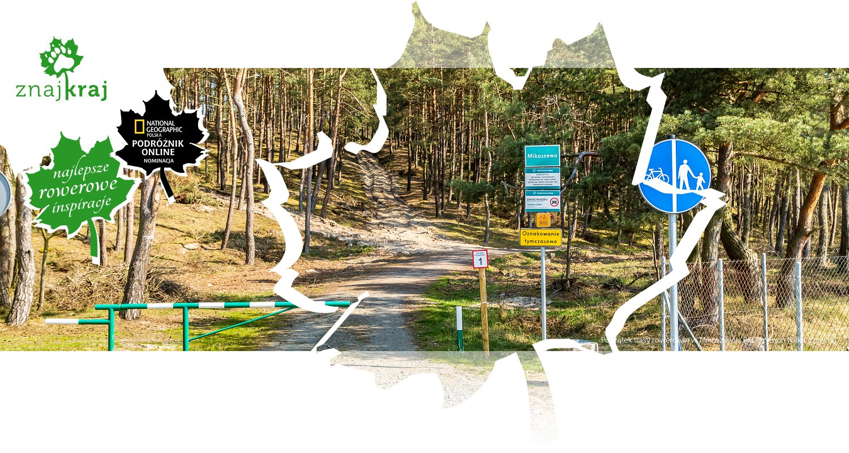 Początek trasy rowerowej w Mikoszewie