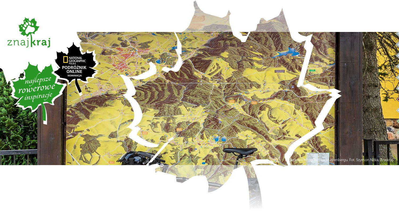Poglądowa mapa Rudaw w Altenbergu