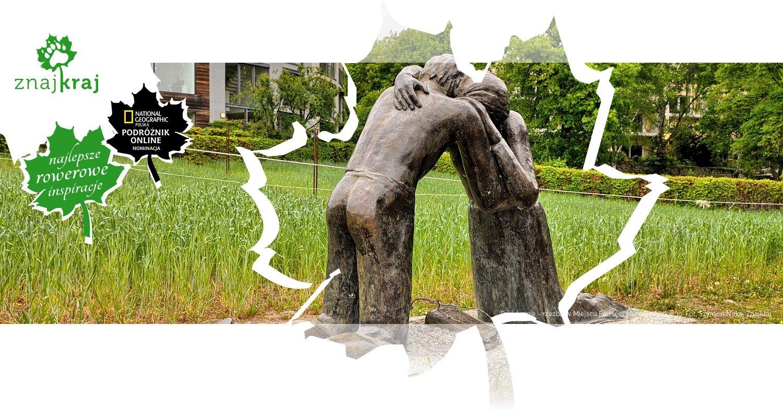 Pojednanie - rzeźba w Miejscu Pamięci Muru Berlińskiego