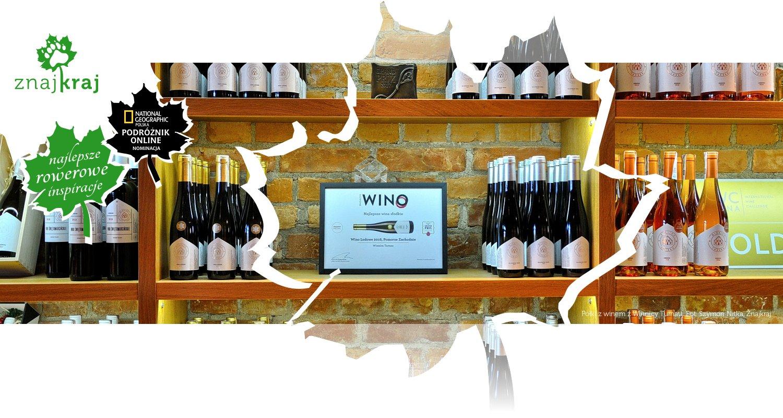 Półki z winem z Winnicy Turnau