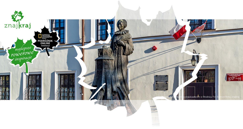 Pomnik Anny Wazówny przed pałacem w Brodnicy