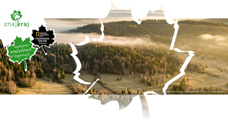 Poranne jesienne mgły w Bieszczadach