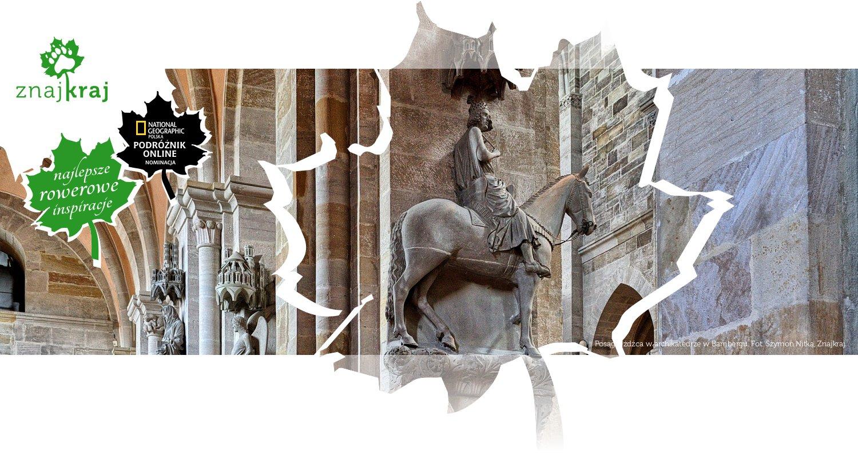 Posąg jeźdźca w archikatedrze w Bambergu
