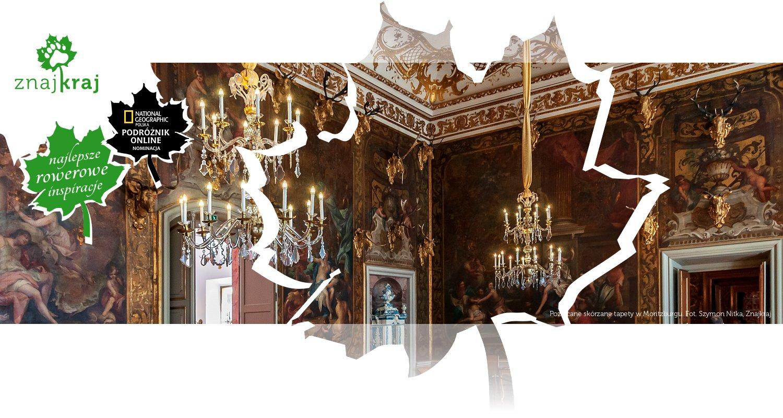 Pozłacane skórzane tapety w Moritzburgu