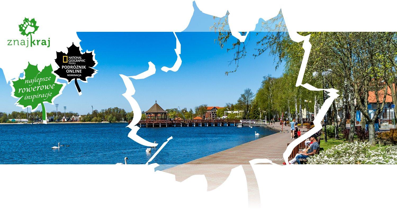 Promenada w Ostródzie nad Jeziorem Drwęckim