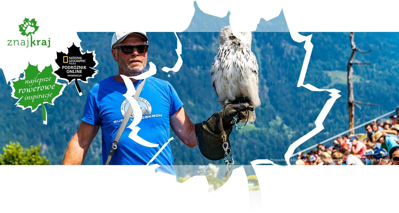 Prowadzący pokaz ptaków na zamku Landskron