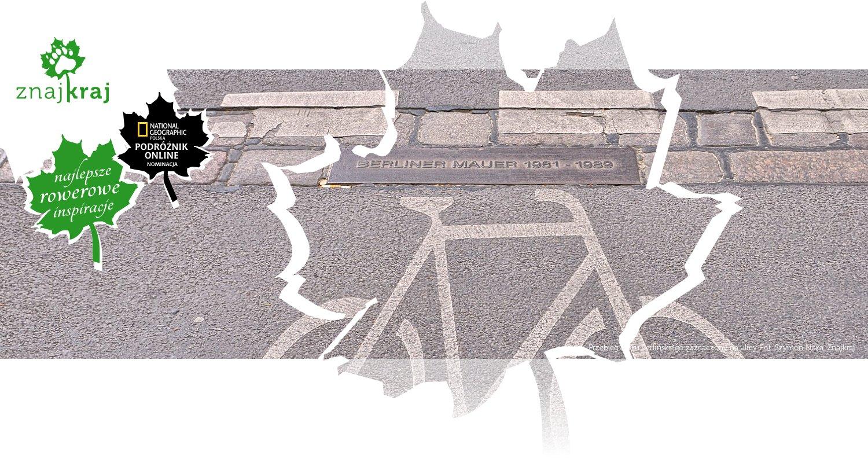 Przebieg Muru Berlińskiego zaznaczony na ulicy