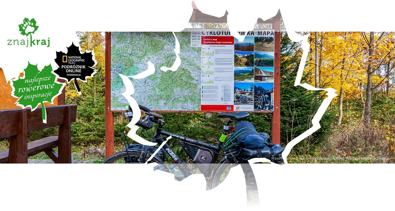 Przed rowerową mapą w Tatrzańskiej Kotlinie