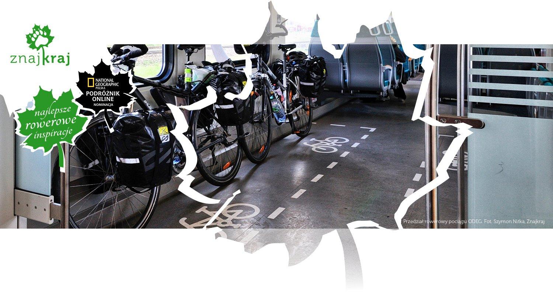 Przedział rowerowy pociągu ODEG