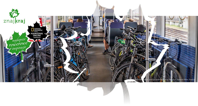 Przedział rowerowy w pociągu podmiejskim w Hesji