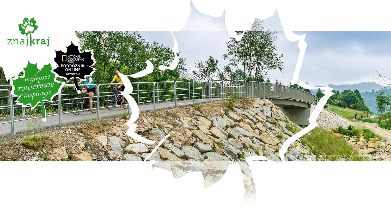 Przejazd po moście na trasie Velo Czorsztyn