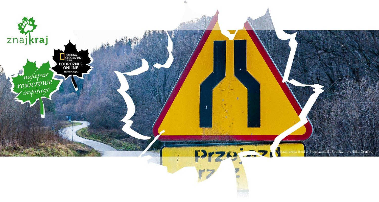 Przejazd przez bród w Bieszczadach