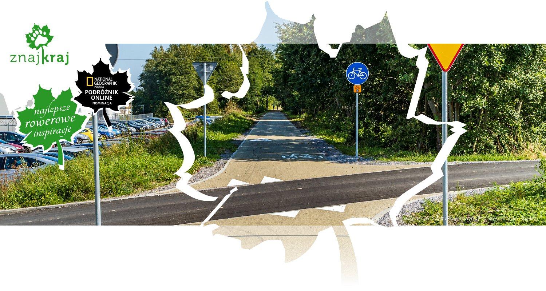 Przejazd przez jezdnię na Żelaznym Szlaku Rowerowym