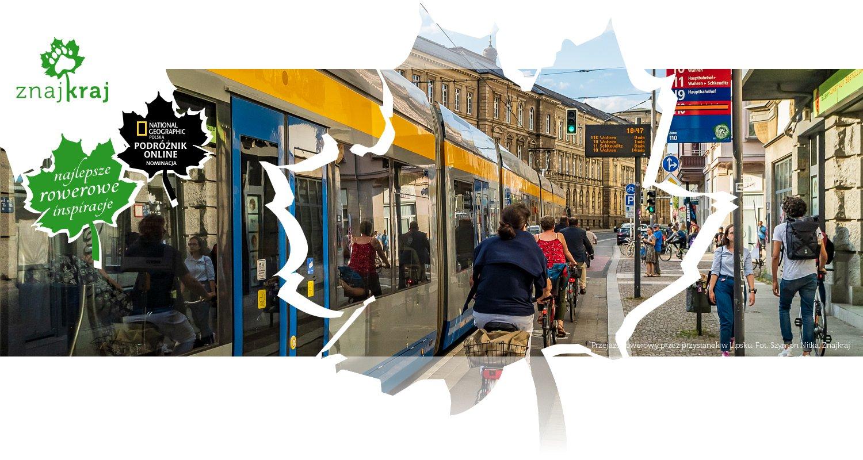 Przejazd rowerowy przez przystanek w Lipsku