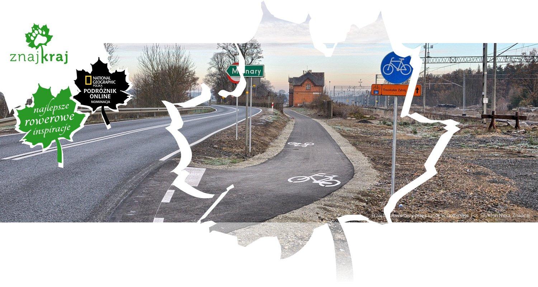 Przejazd rowerowy przez szosę w Godkowie