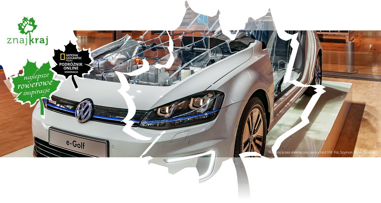 Przekrój przez elektryczny samochód VW