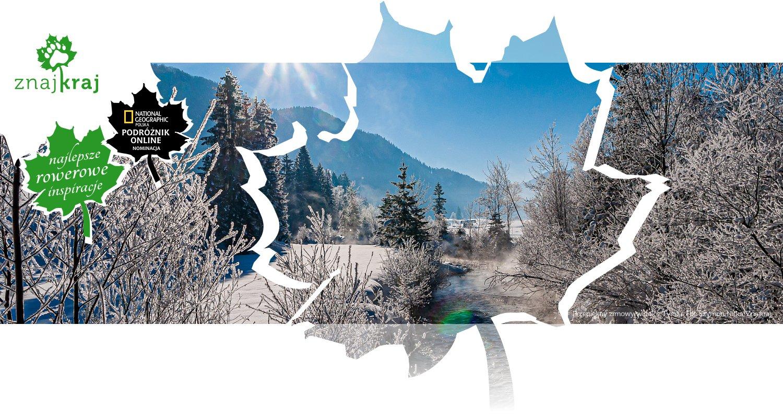 Przepiękny zimowy widok z Tyrolu