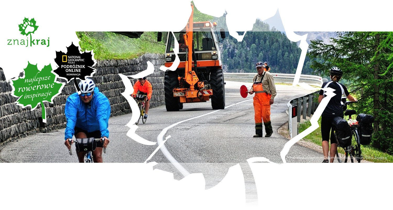 Przydrożne koszenie w Dolomitach