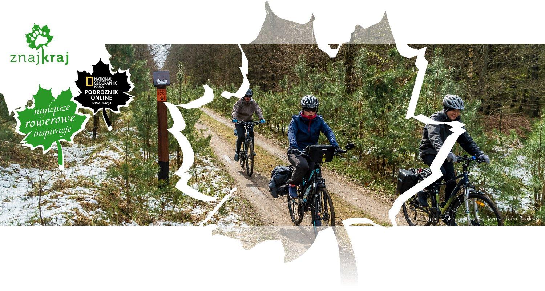 Przyprószony śniegiem szlak rowerowy