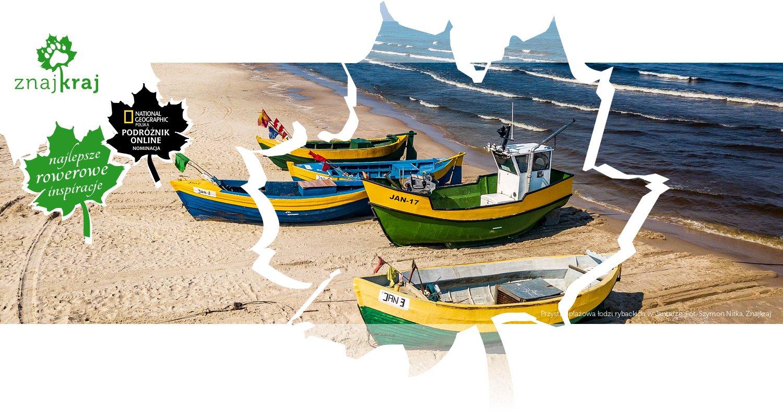 Przystań plażowa łodzi rybackich w Jantarze