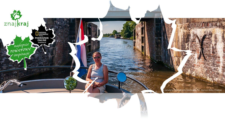 Rejs kanałami Holandii koło Groningen