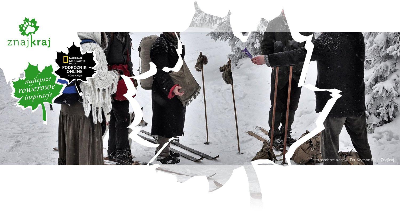 Retro narciarze biegowi