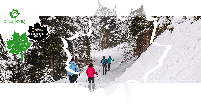 Rodzina na narciarskiej trasie Rittisloipe