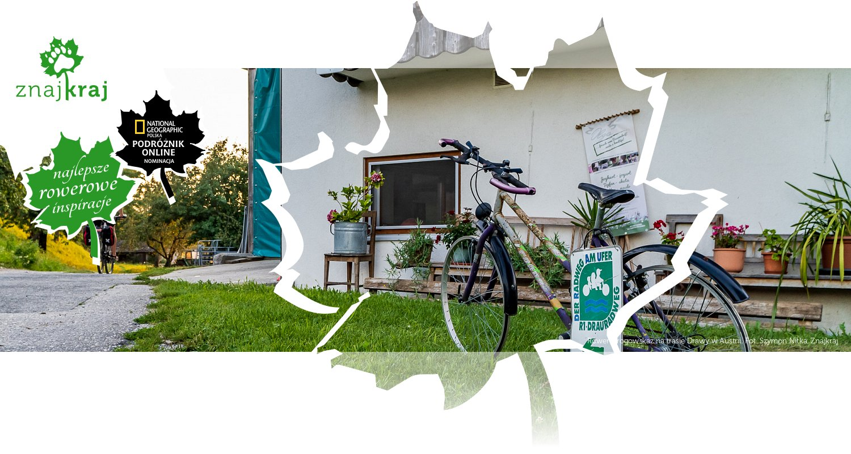 Rower-drogowskaz na trasie Drawy w Austrii