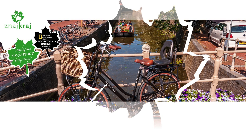 Rower Gazelle nad kanałem w Leeuwarden