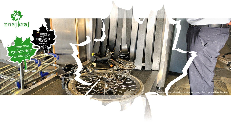 Rower w skanerze bagażu ponadgabarytowego