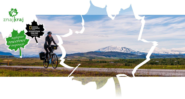 Rowerem na Islandii, z Heklą w tle