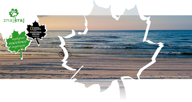 Rowerem po plaży na Mierzei Wiślanej