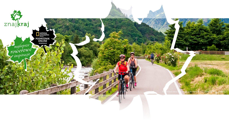 Rowerowa trasa nad Adygą koło Merano