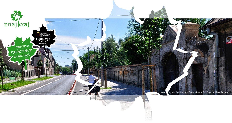 Rowerowy kontrapas na ulicy św. Kazimierza w Częstochowie