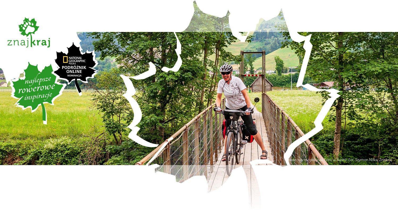 Rowerowy mostek nad Enns w Austrii