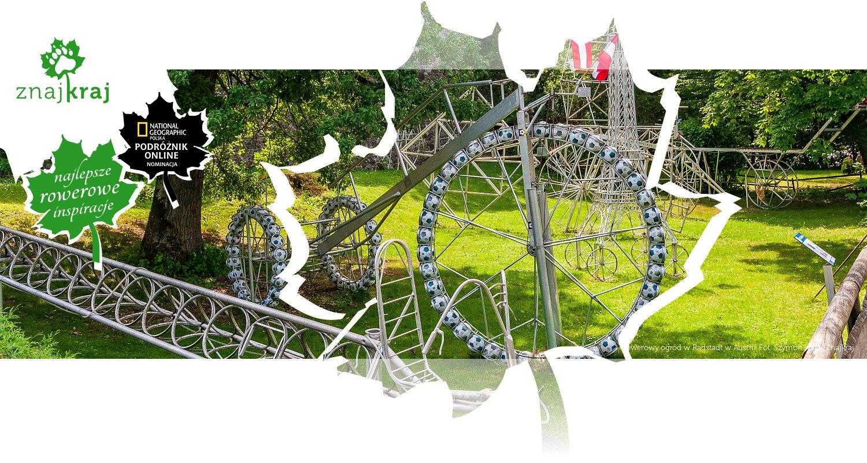 Rowerowy ogród w Radstadt w Austrii